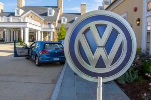 VW Logo with e-Golf